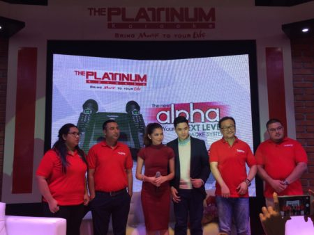 Platinum Alpha Mic Karaoke Aldub and Platinum executives