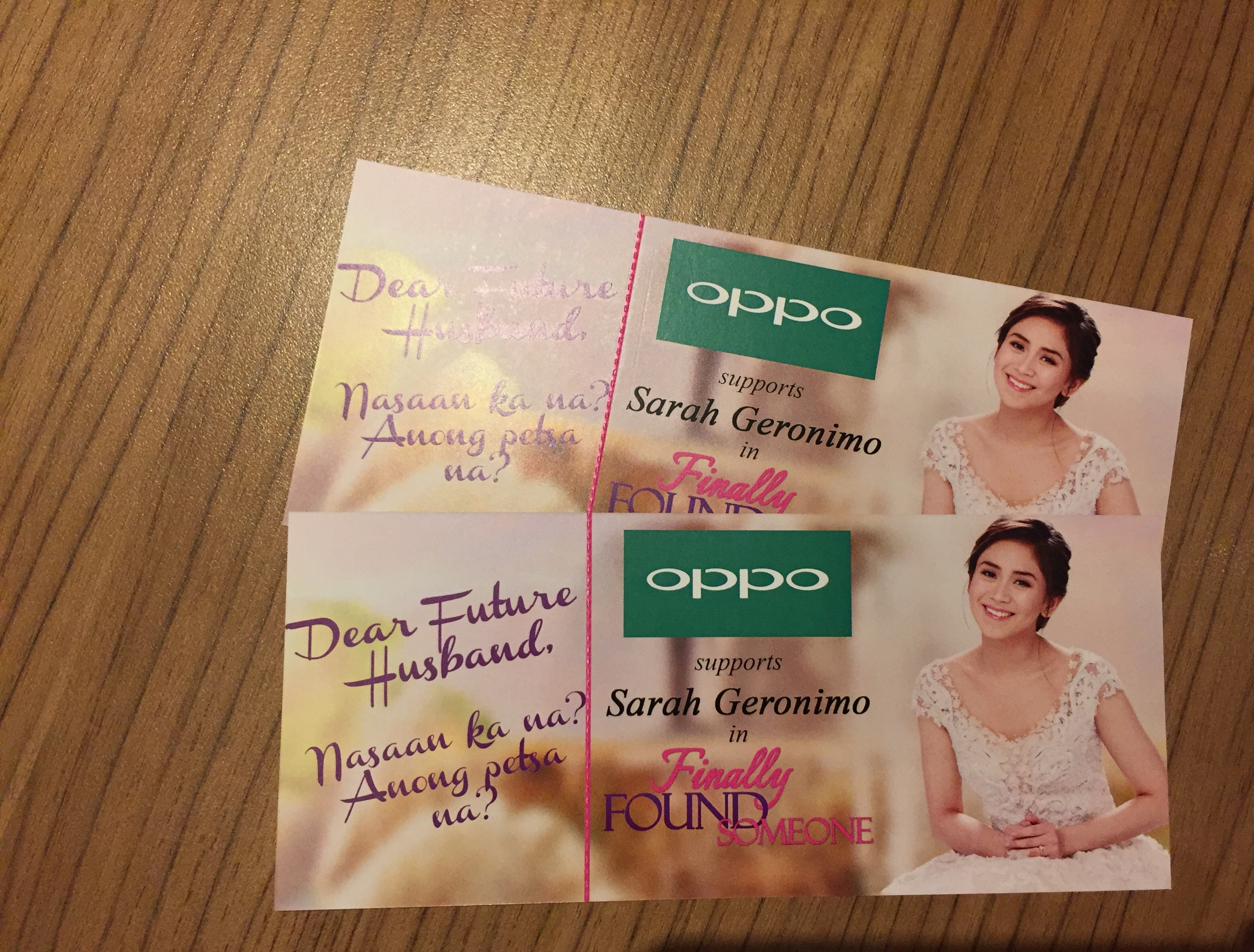 OPPO supports Sarah Geronimo Finally Found Someone Movie